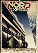 French Travel Railway Art Poster, Nord Express (North Express), France